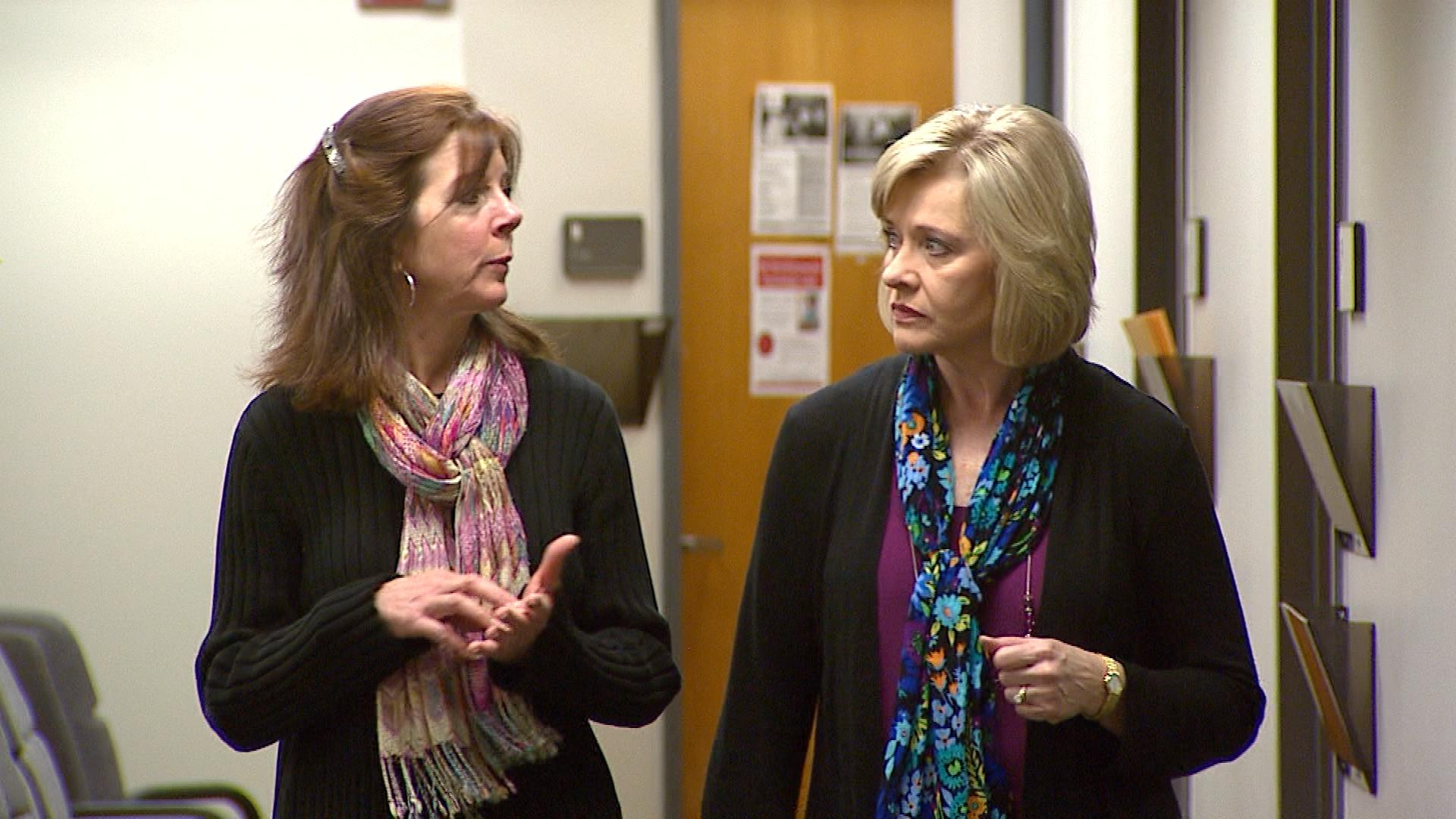 Randi Smith, LCSW, PhD. and associate professor of psychology at MSU Denver is interviewed by CBS4's Kathy Walsh)
