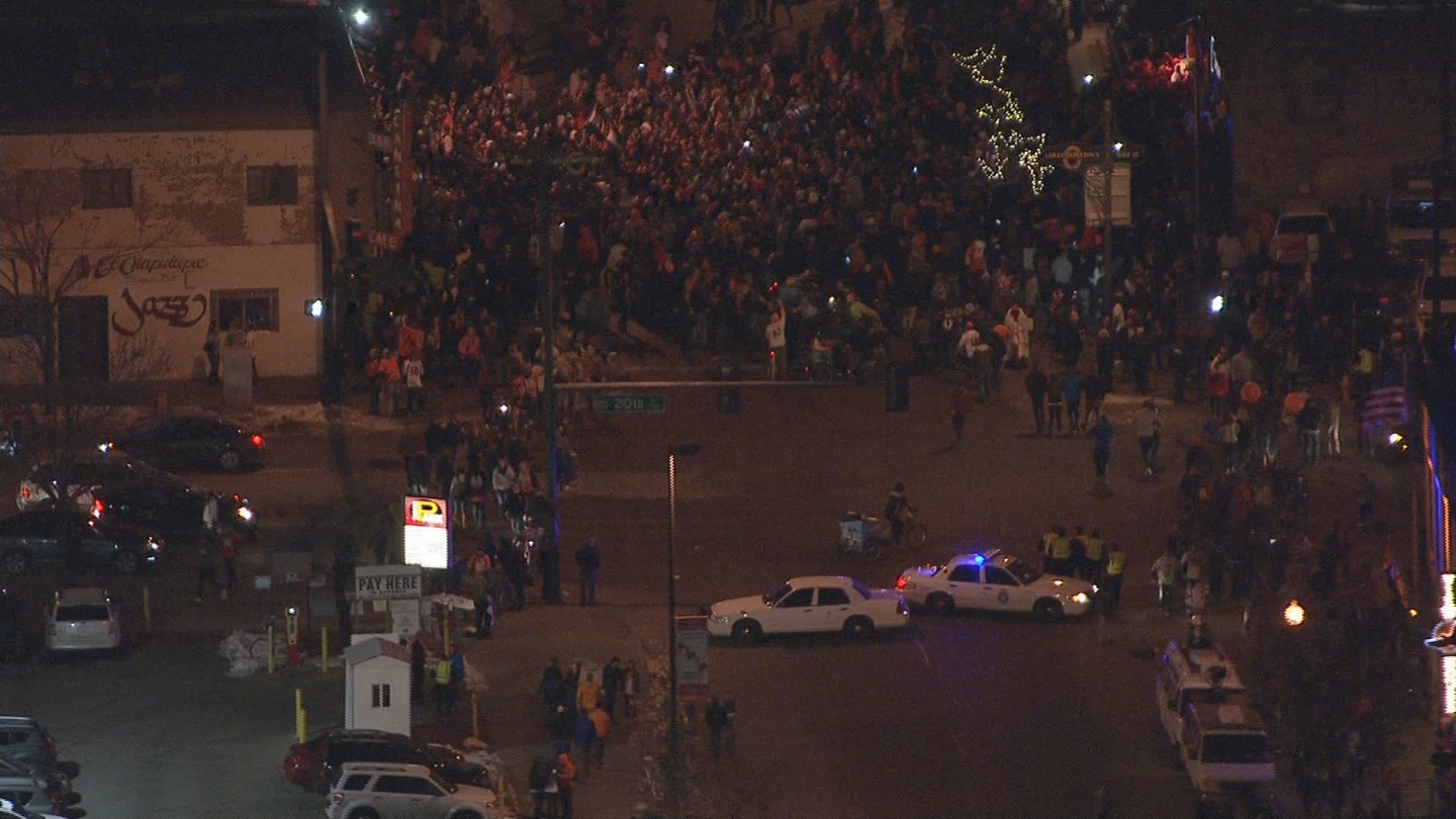 Copter4 flew over hundreds of people at 20th and Market (credit: CBS)