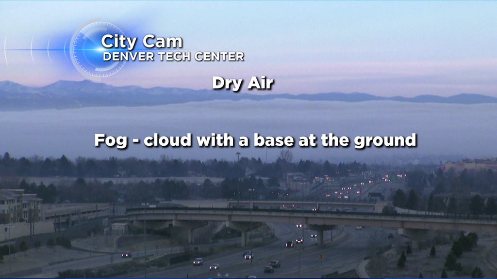 Fog over the Denver area at 7:15 a.m. on Saturday, (credit: CBS4/Colorado's Weather Center)