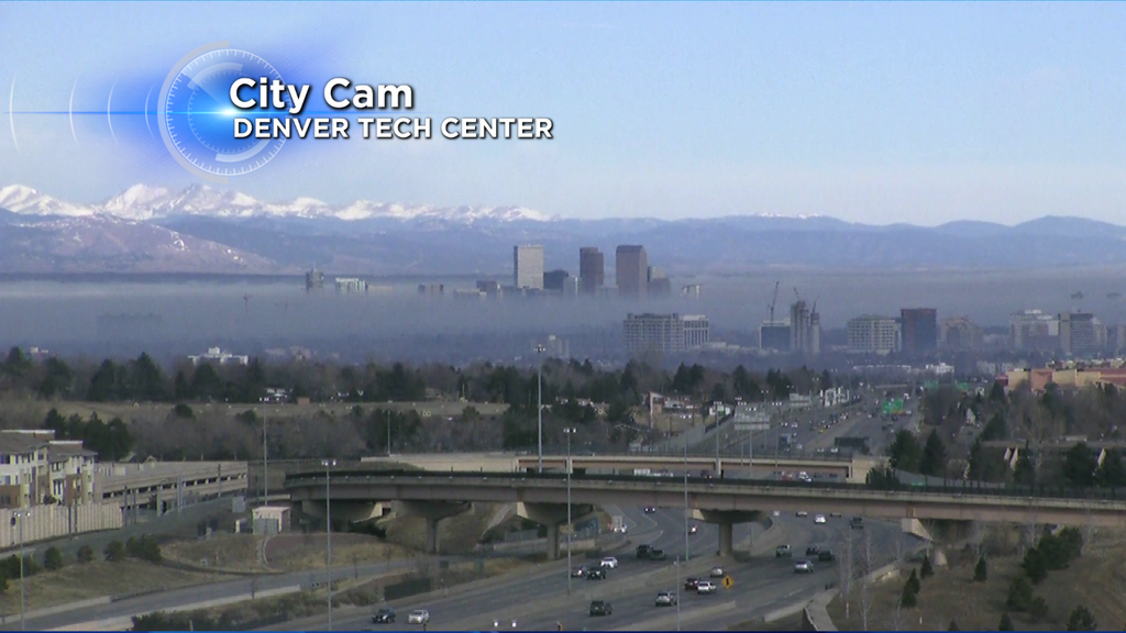 Fog over the Denver area at 9:00 a.m. on Saturday, (credit: CBS4/Colorado's Weather Center)