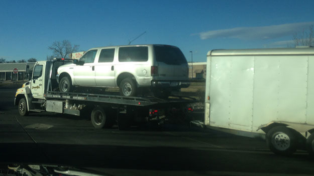 A recovered Ford Excursion (credit: CBS)
