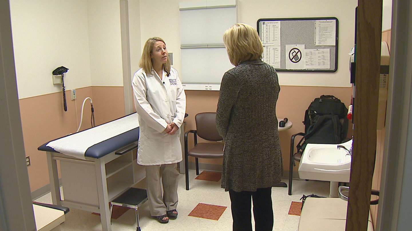 CBS4 Health Specialist Kathy Walsh interviews Dr. Heather Young (credit: CBS)