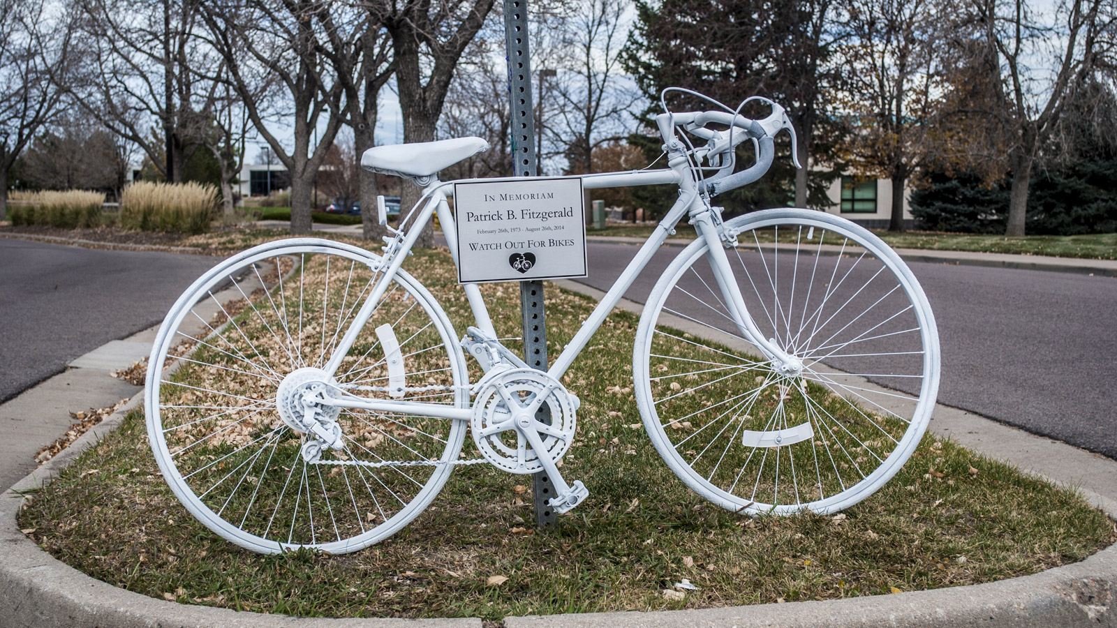 A memorial bicycle for Patrick Fitzgerald (credit: Nancy Fitzgerald)