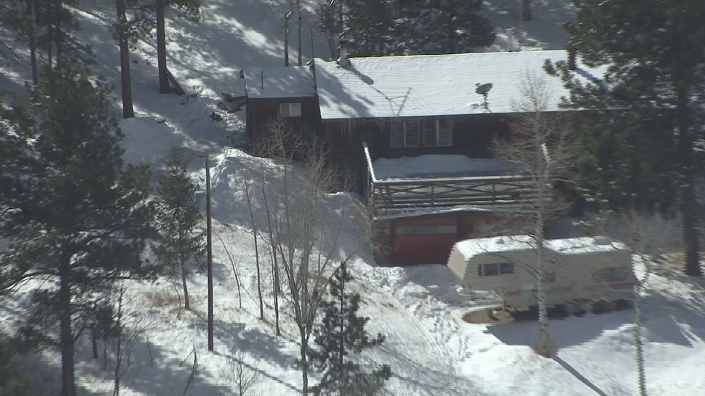 Copter4 flew over where the shootout happened in Bailey (credit: CBS)
