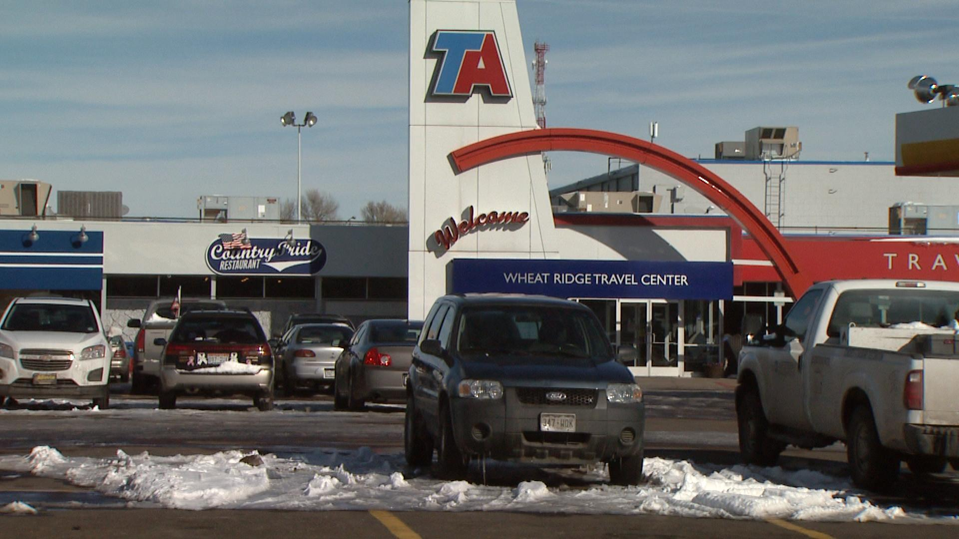 The TA Truck Stop on West 44th Avenue (credit: CBS)