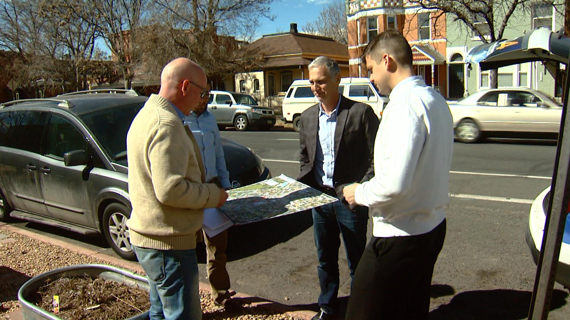 Concerned neighbors are interviewed by CBS4's Mark Taylor (credit: CBS)