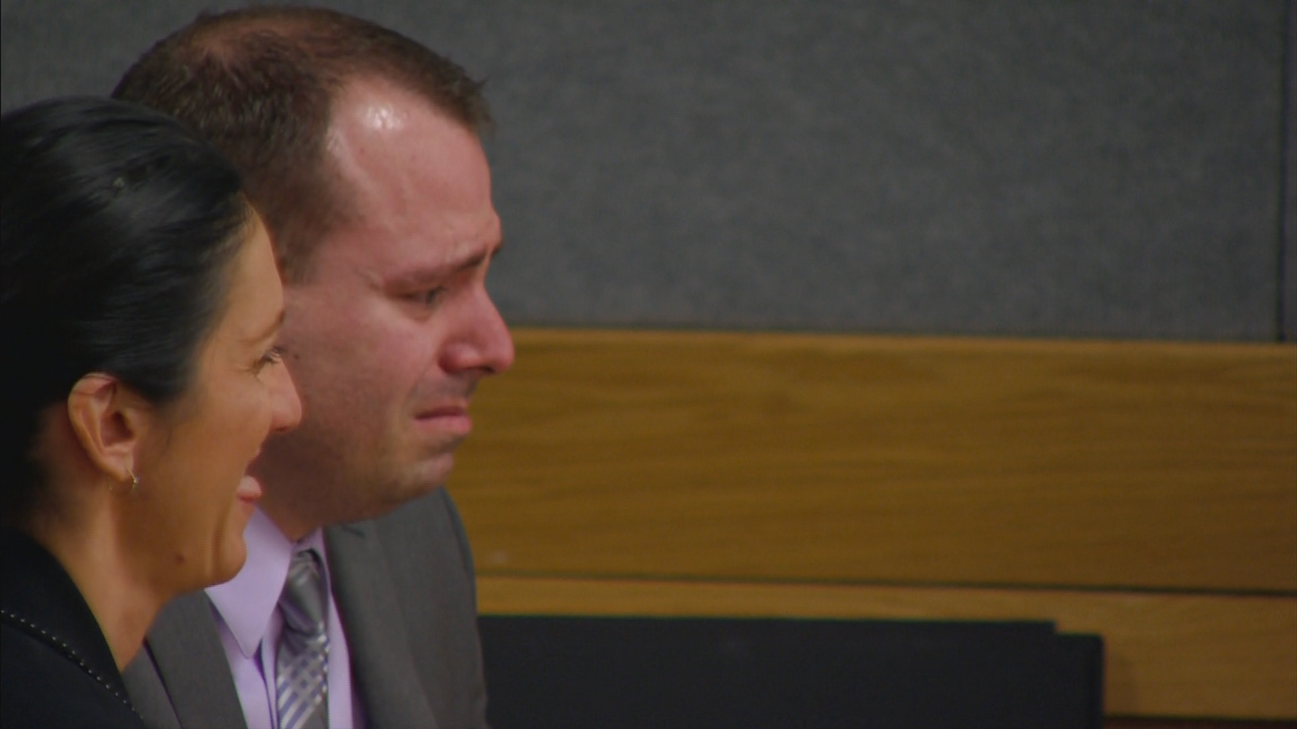 Tom Fallis cried in court on Thursday (credit: CBS)