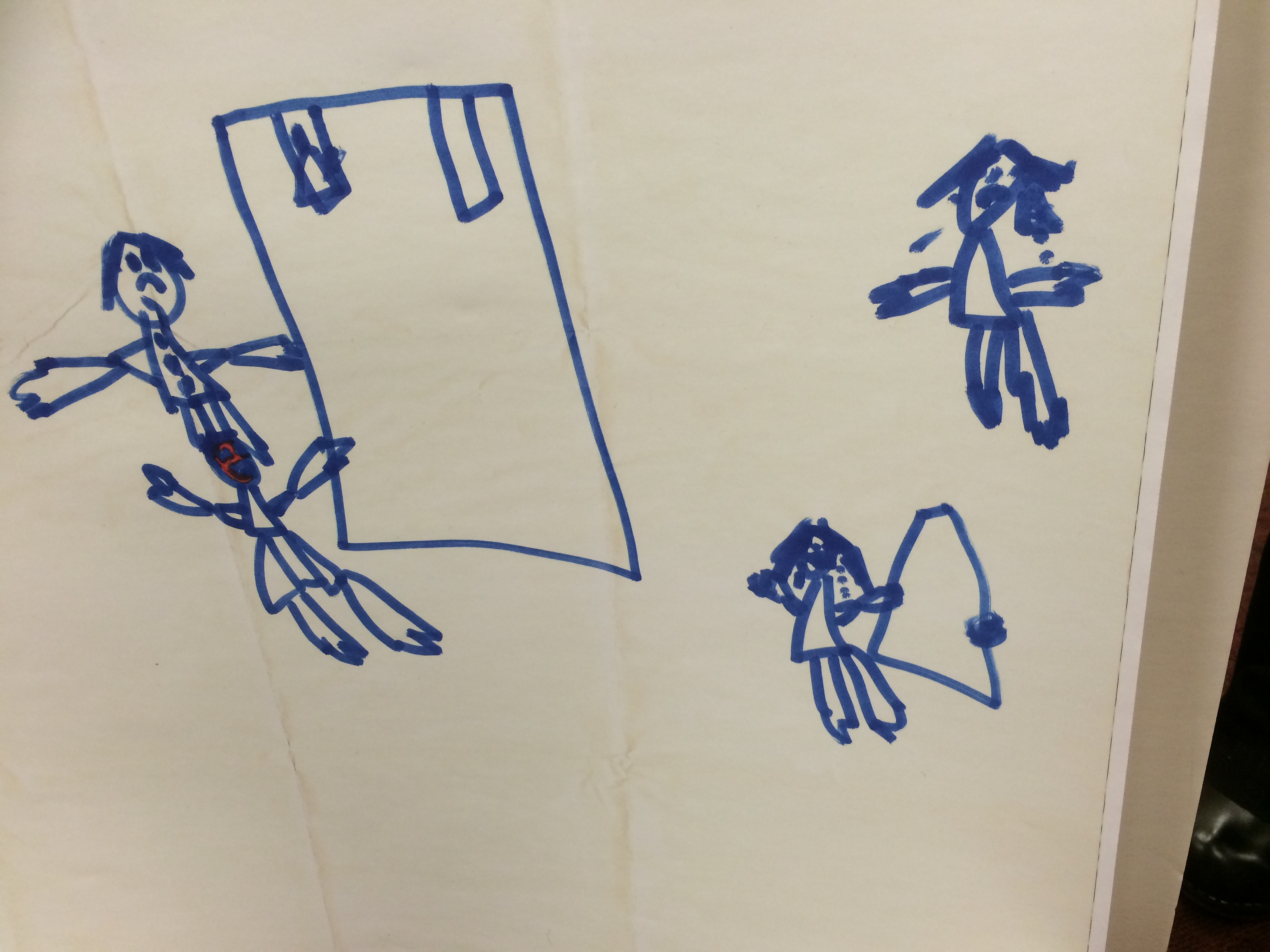 A drawing by Ashley and Tom Fallis' child presented in court (credit: CBS)
