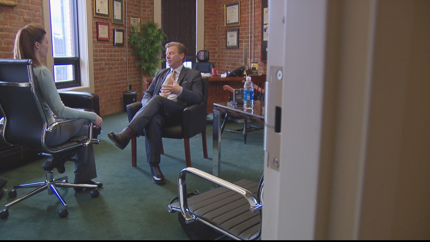 CBS4's Melissa Garcia interviews attorney Rob Corry (credit: CBS)
