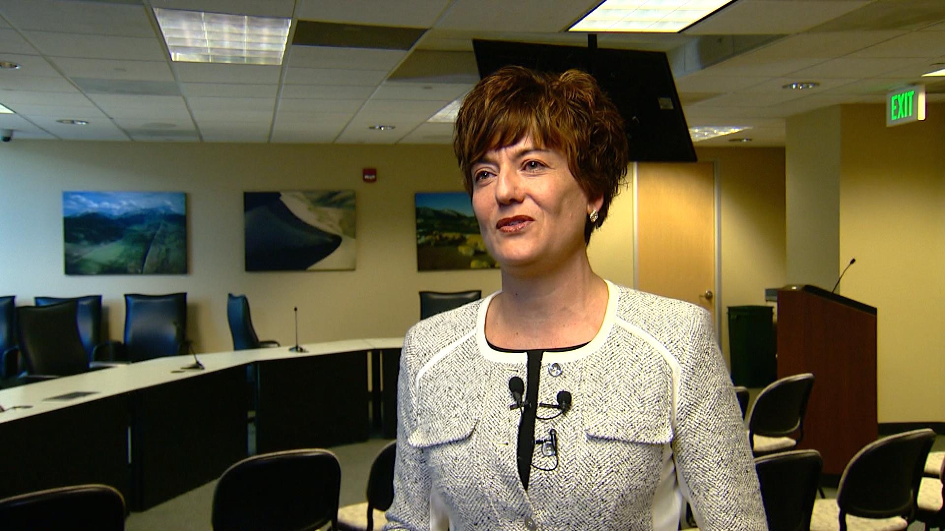 Kelly Brough, head of the Denver Metro Chamber of Commerce (credit: CBS)