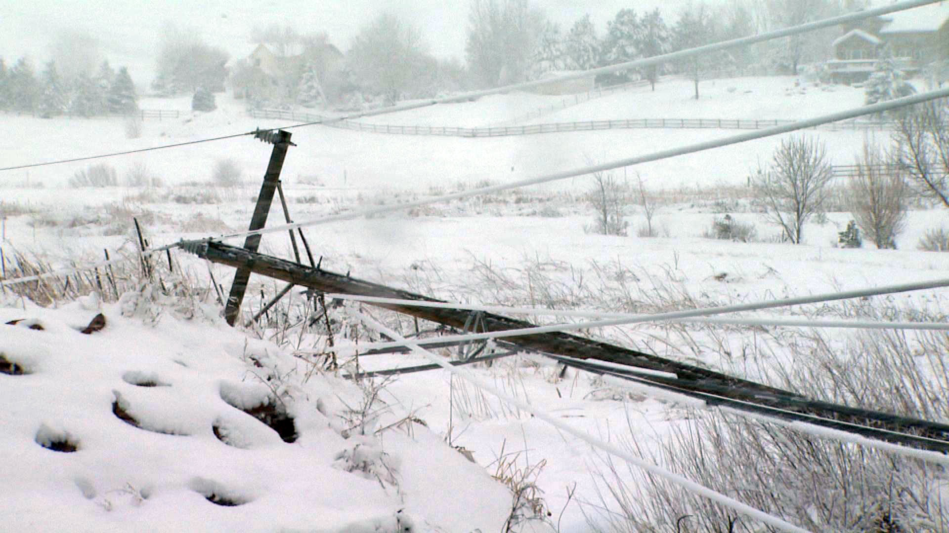 Power poles in Longmont (credit: CBS)
