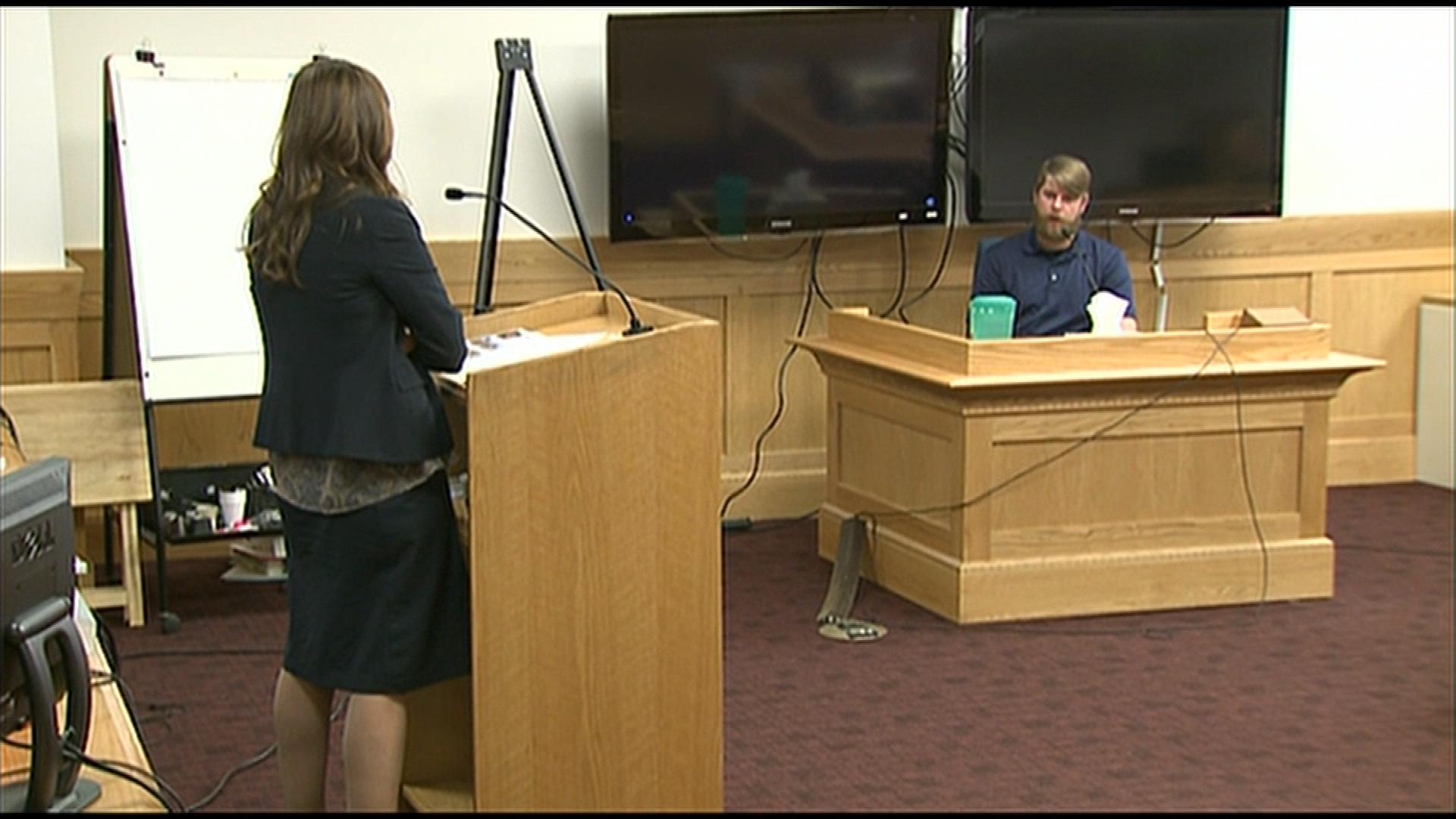 Nick Glover in court on Monday (credit: CBS)