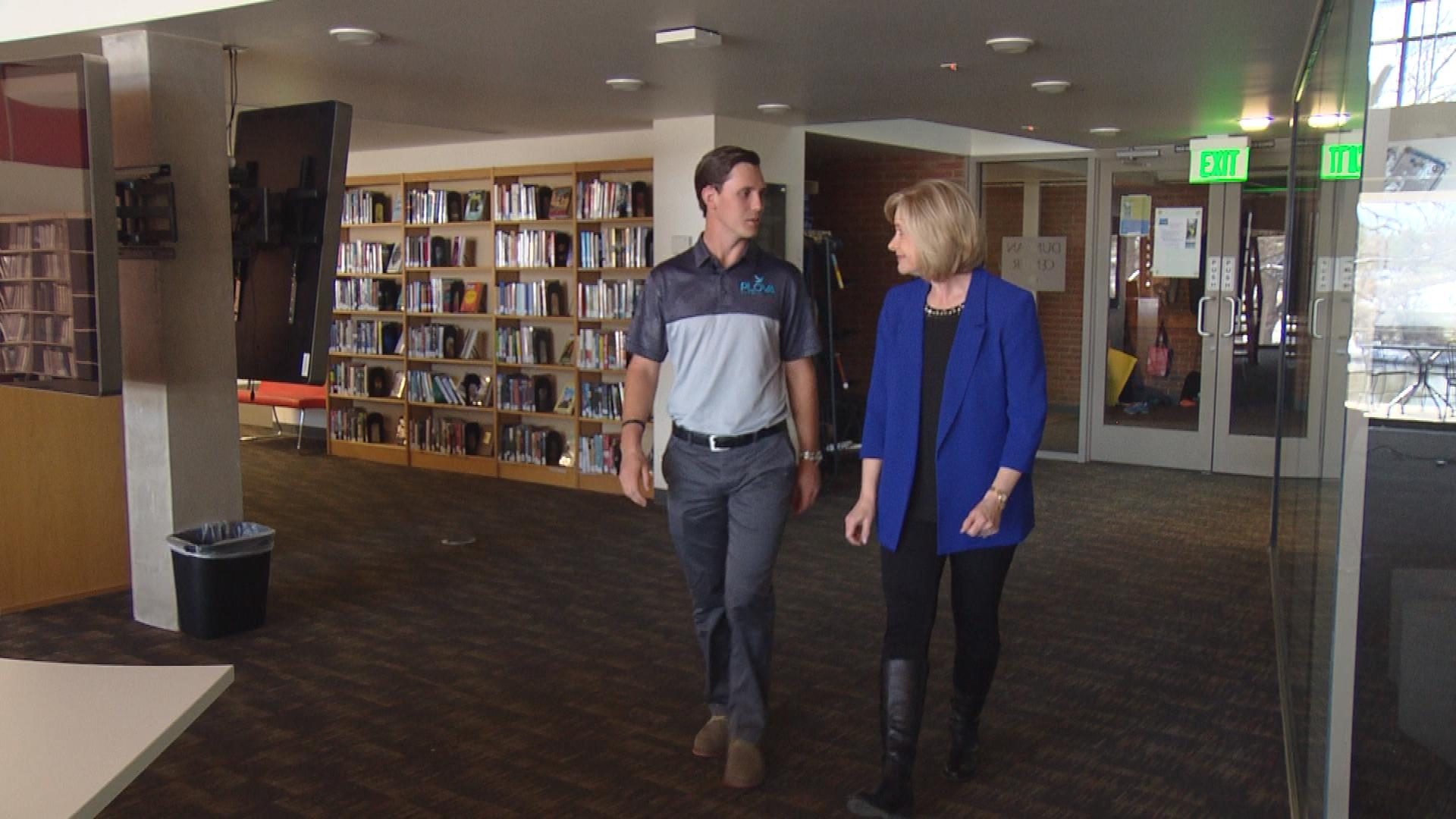 Cole T. Evans is interviewed by CBS4's Kathy Walsh (credit: CBS)