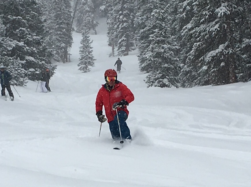 Heavy March snow makes for excellent spring skiing at Keystone Resort. (credit: Mark Mannheimer)