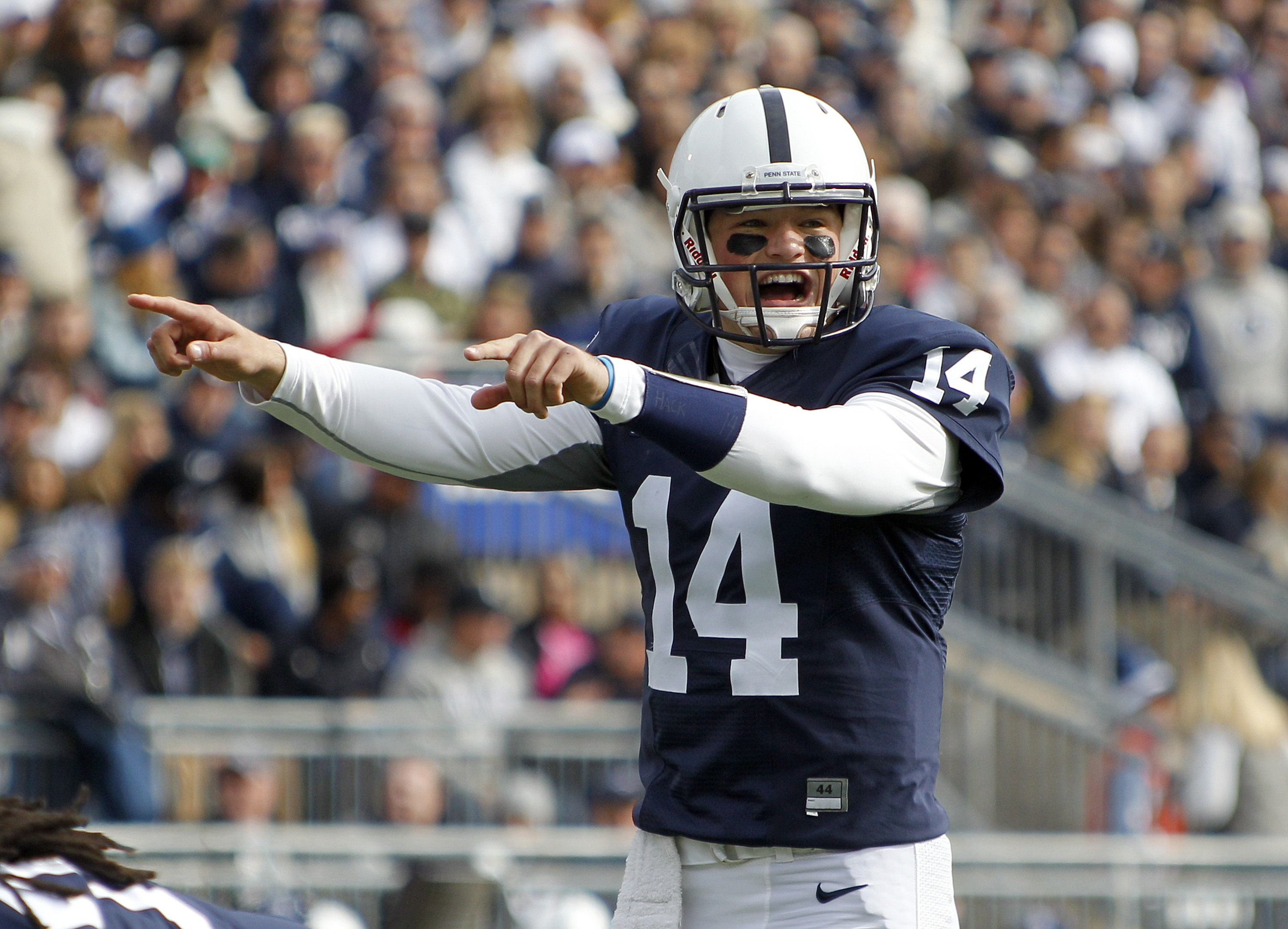 Christian Hackenberg of the Penn State Nittany Lions on Oct. 31, 2015 at Beaver Stadium in State College, Pennsylvania. (Photo by Justin K. Aller/Getty Images)