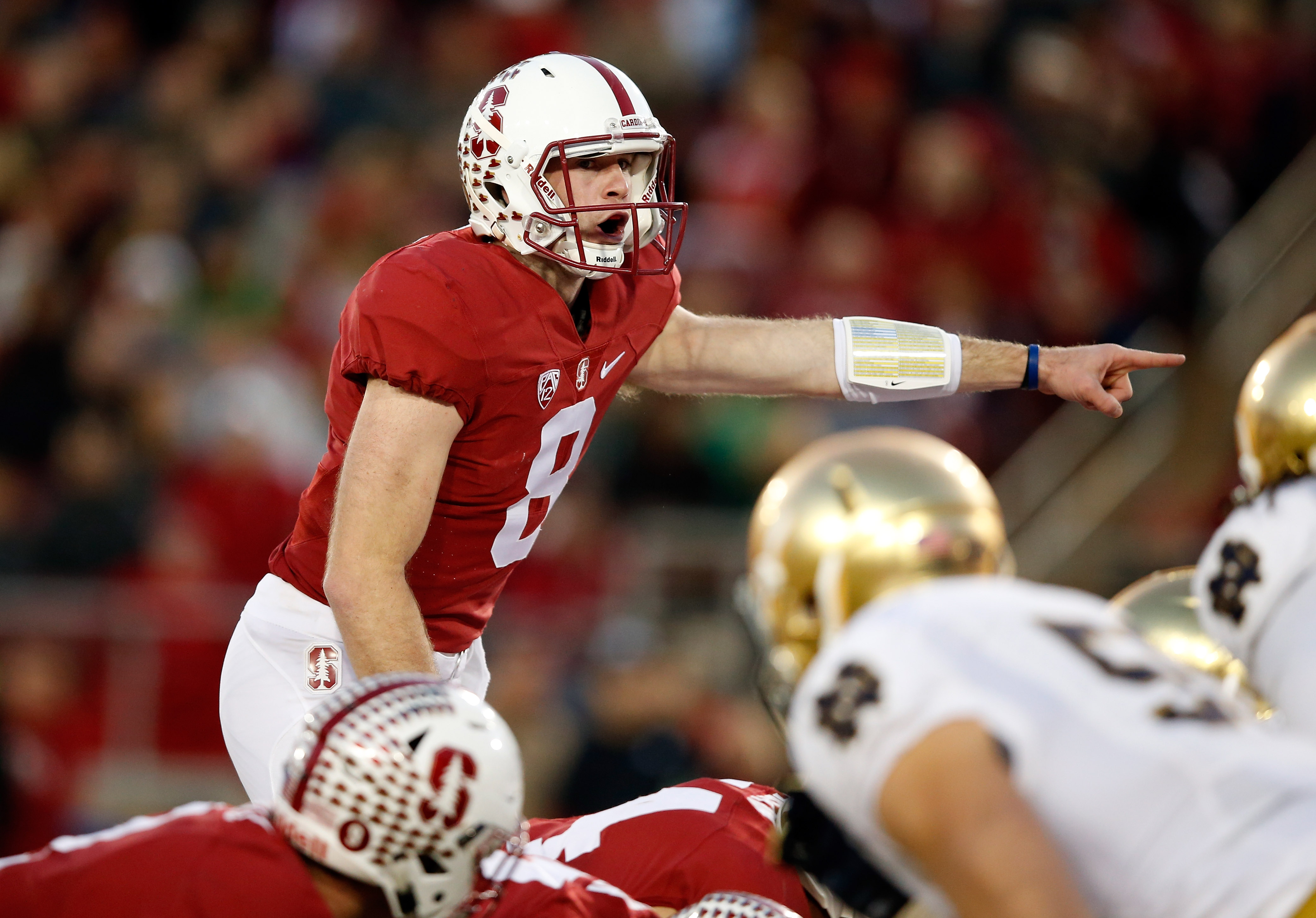 Kevin Hogan of the Stanford Cardinal at Stanford Stadium on Nov. 28, 2015 in Palo Alto, California. (Photo by Ezra Shaw/Getty Images)