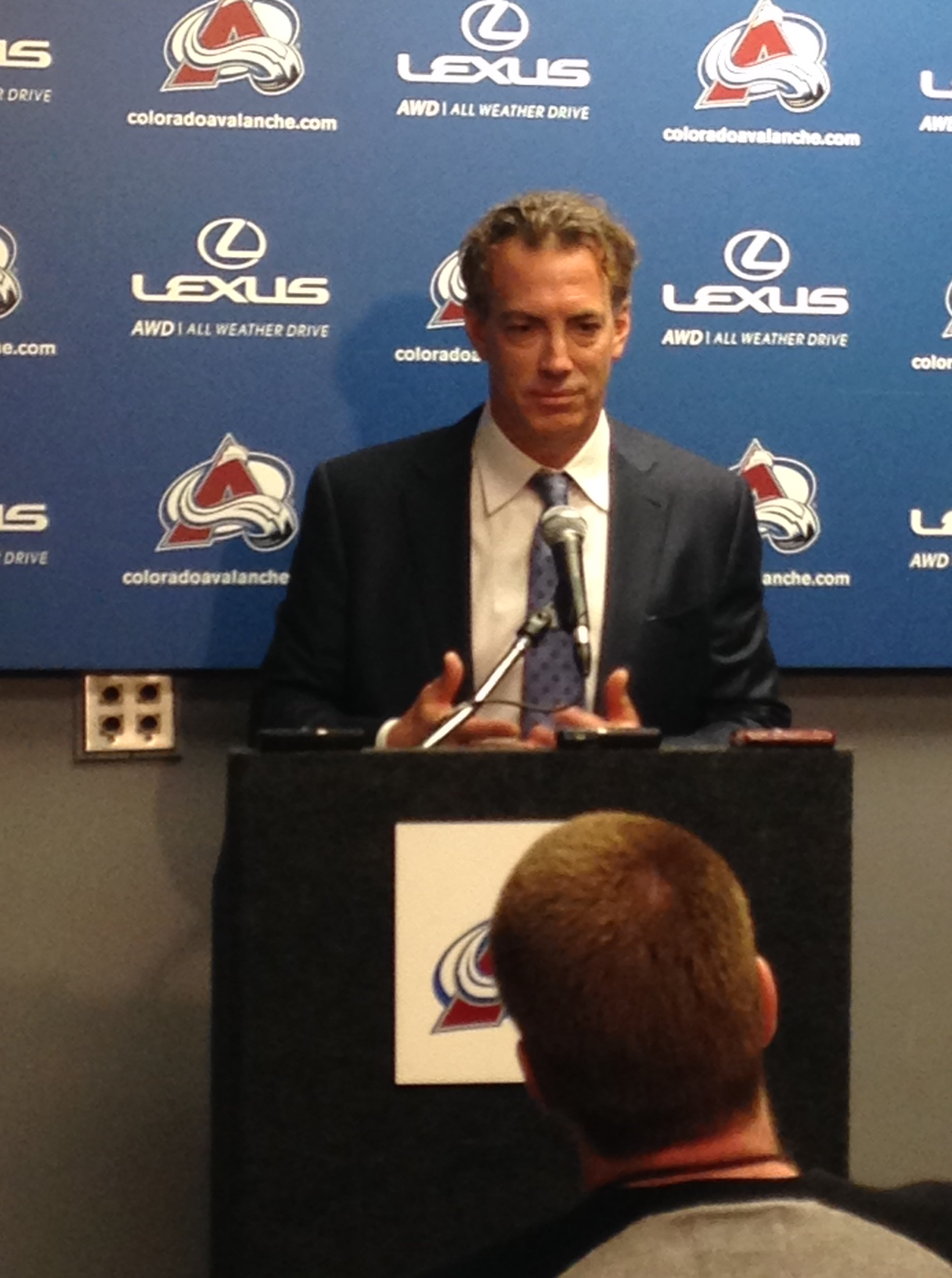 Joe Sakic making the announcement on Saturday (credit: CBS)