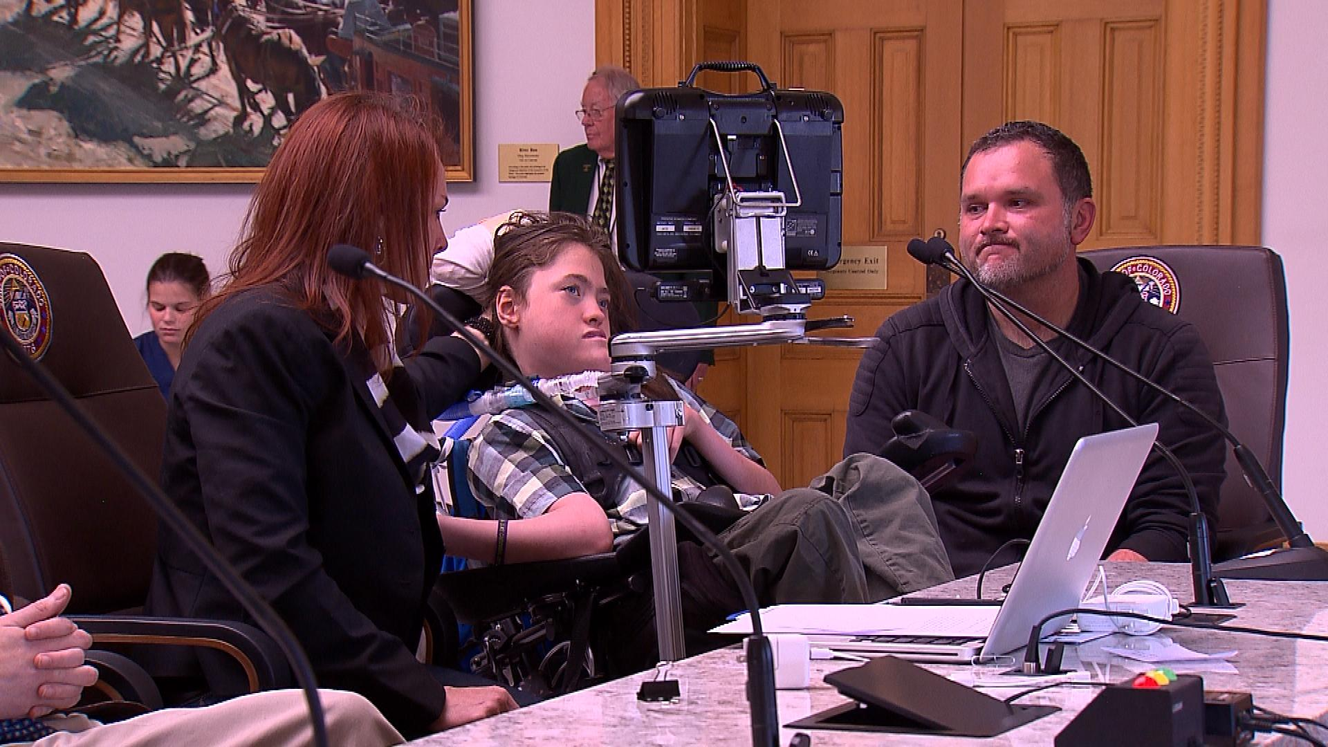 Jack Splitt, a 15-year-old with cerebral palsy (credit: CBS)