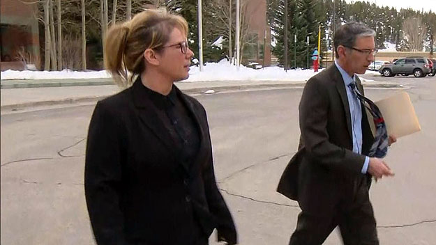 Kimberly Jeanne Burgans leaving court on Wednesdsay (credit: CBS)