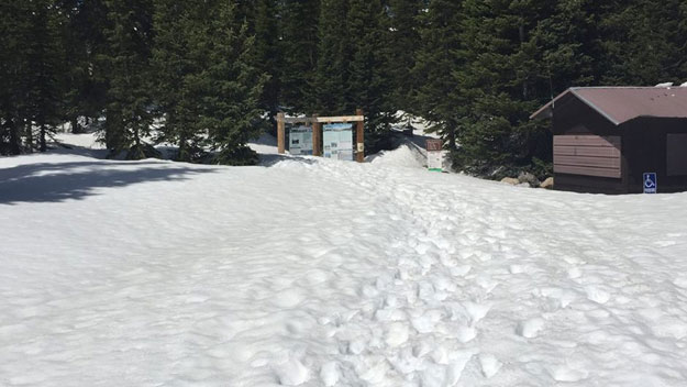 The Long Lake Trailhead on May 23 (credit: U.S. Forest Service/Facebook)