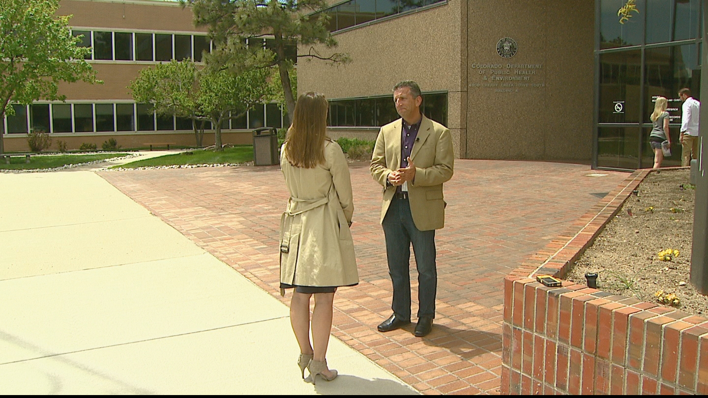 CBS4's Lauren DiSpirito interviews Dr. Larry Wolk, Chief Medical Officer and Exec. Dir. of Colorado Dept. of Public Health and Education (credit: CBS)