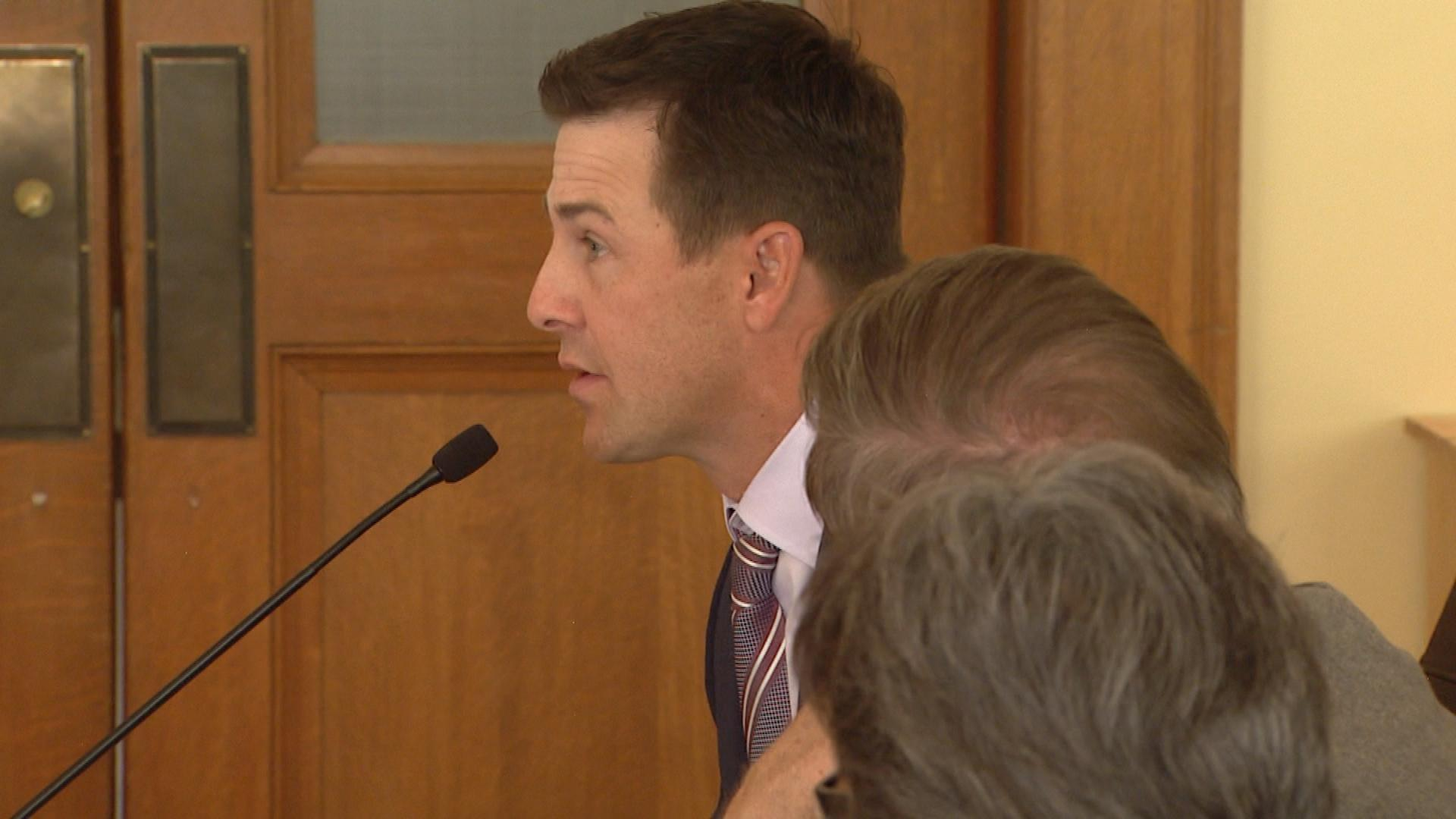 Brandon Stokley at the state Capitol on Tuesday (credit: CBS)