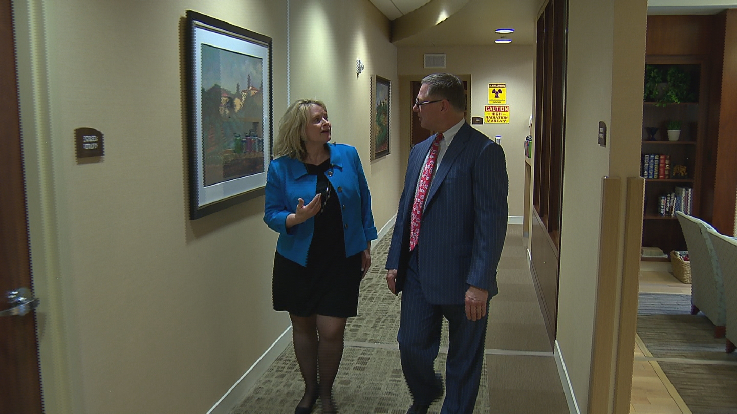 Cynthia Coffman and Dr. Kevin Schewe (credit: CBS)