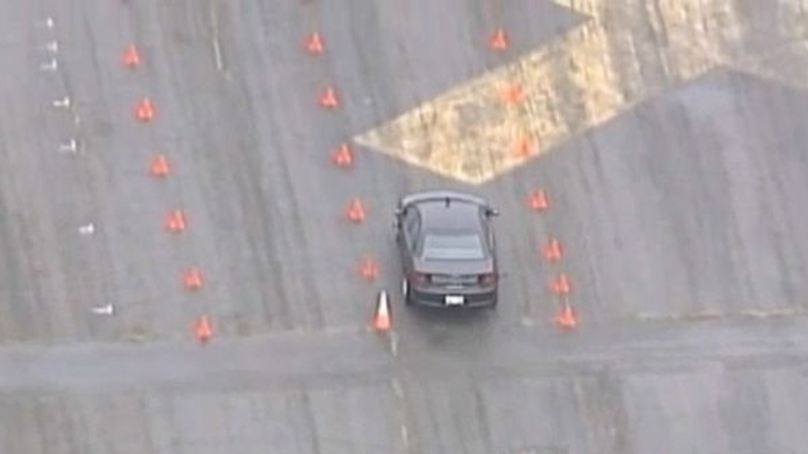 An image from a CBS4 report in November 2015 in which a driving test given to drivers who were stoned to test their ability. (credit: CBS)