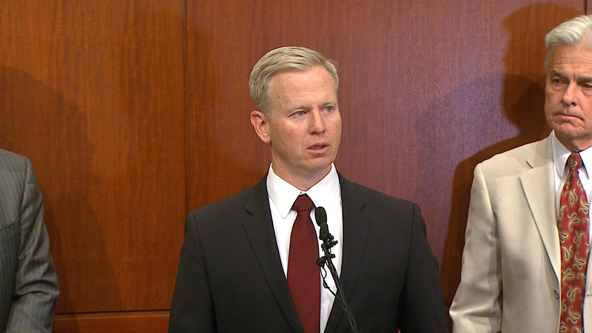 18th Judicial District Attorney George Brauchler on Monday (credit: CBS)