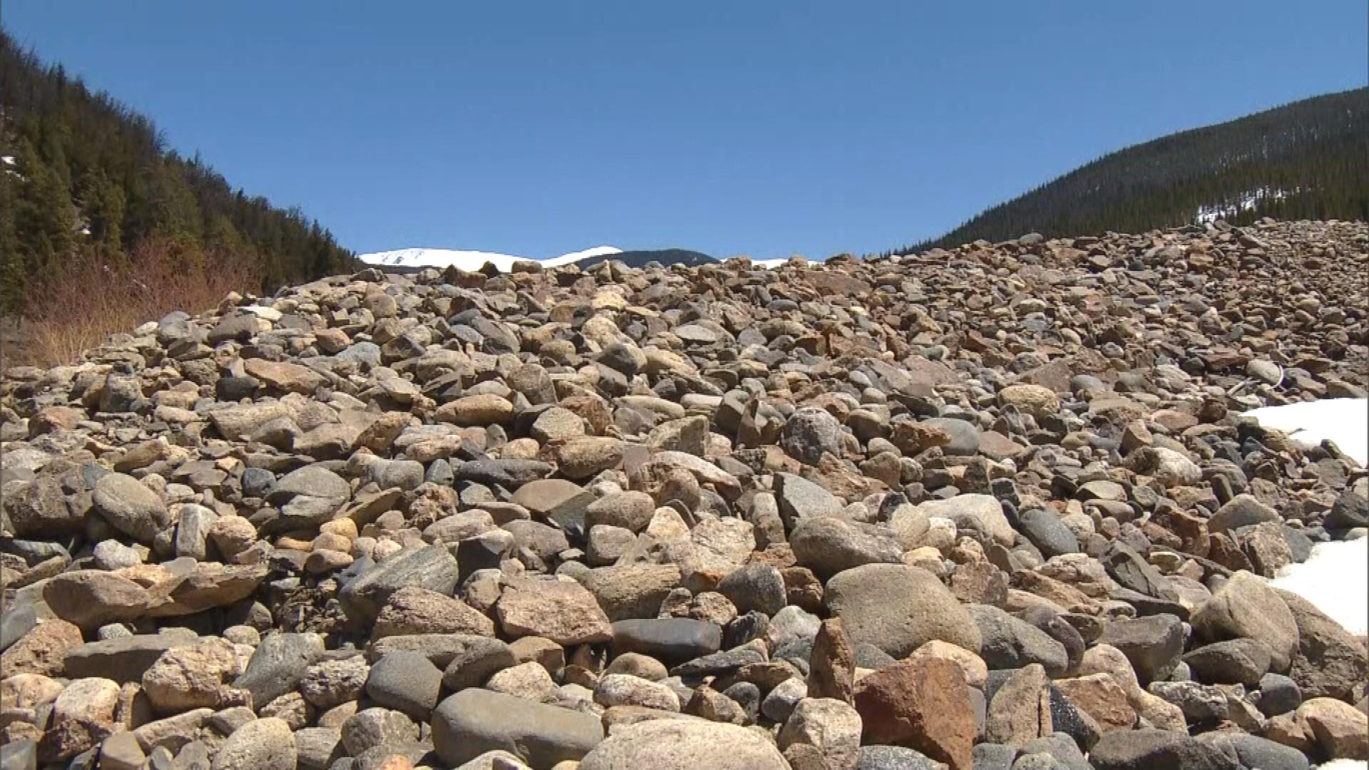 Rocks left behind my mining along the Swan River (credit: CBS)