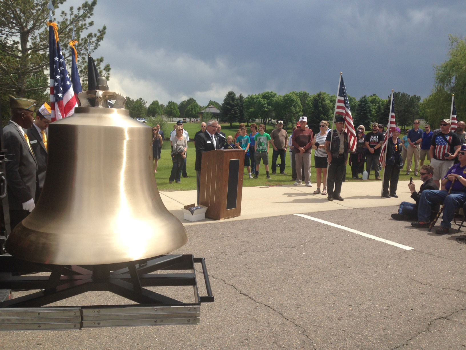 The Honor Bell at Fort Logan National Cemetery (credit: CBS)