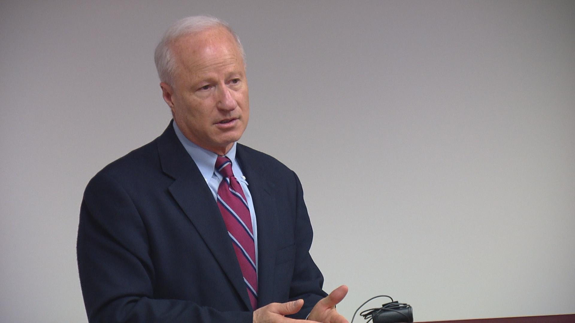 U.S. Rep. Mike Coffman in Aurora (credit: CBS)