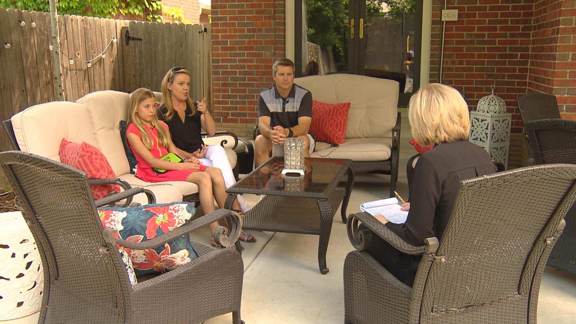 The Goodreau family is interviewed by CBS4's Kathy Walsh (credit: CBS)