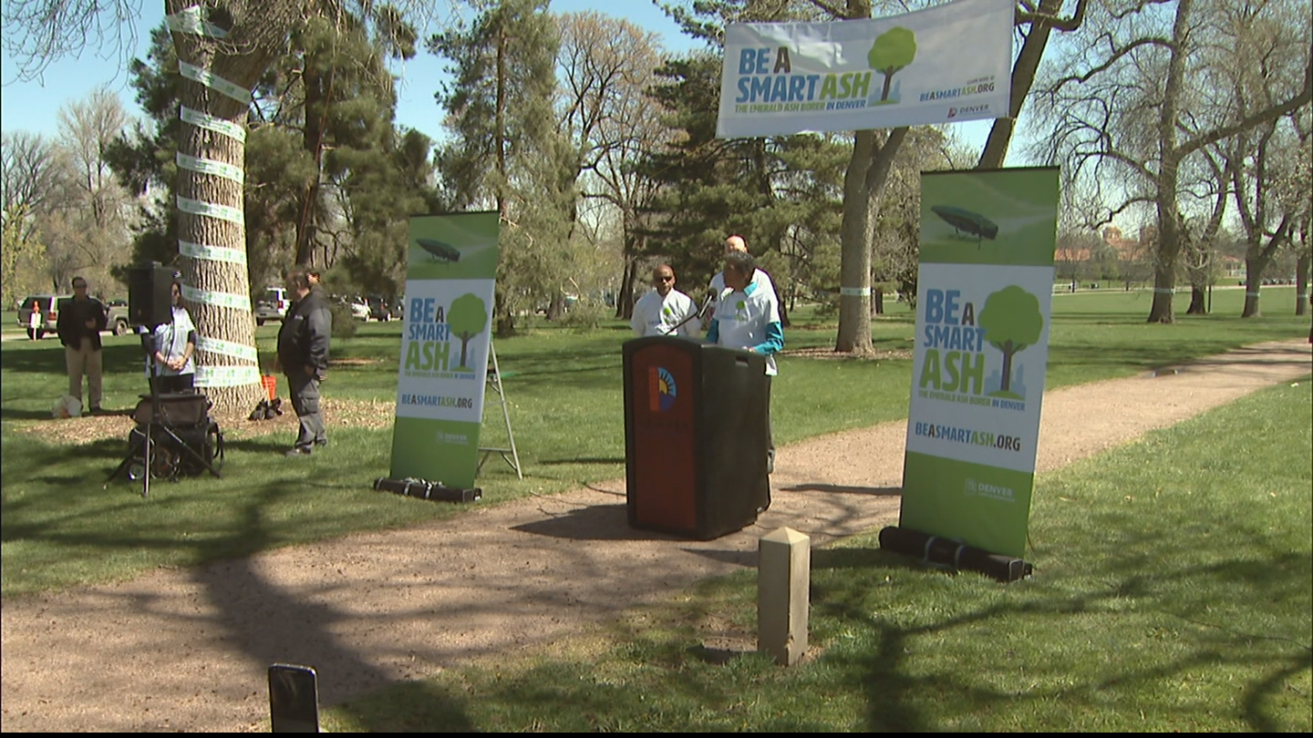 Denver Mayor Michael Hancock announces the Be A Smart Ash campaign (credit: CBS)