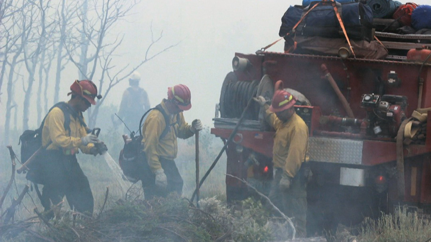 The Beaver Creek fire on Aug. 14 (credit: U.S. Forest Service)