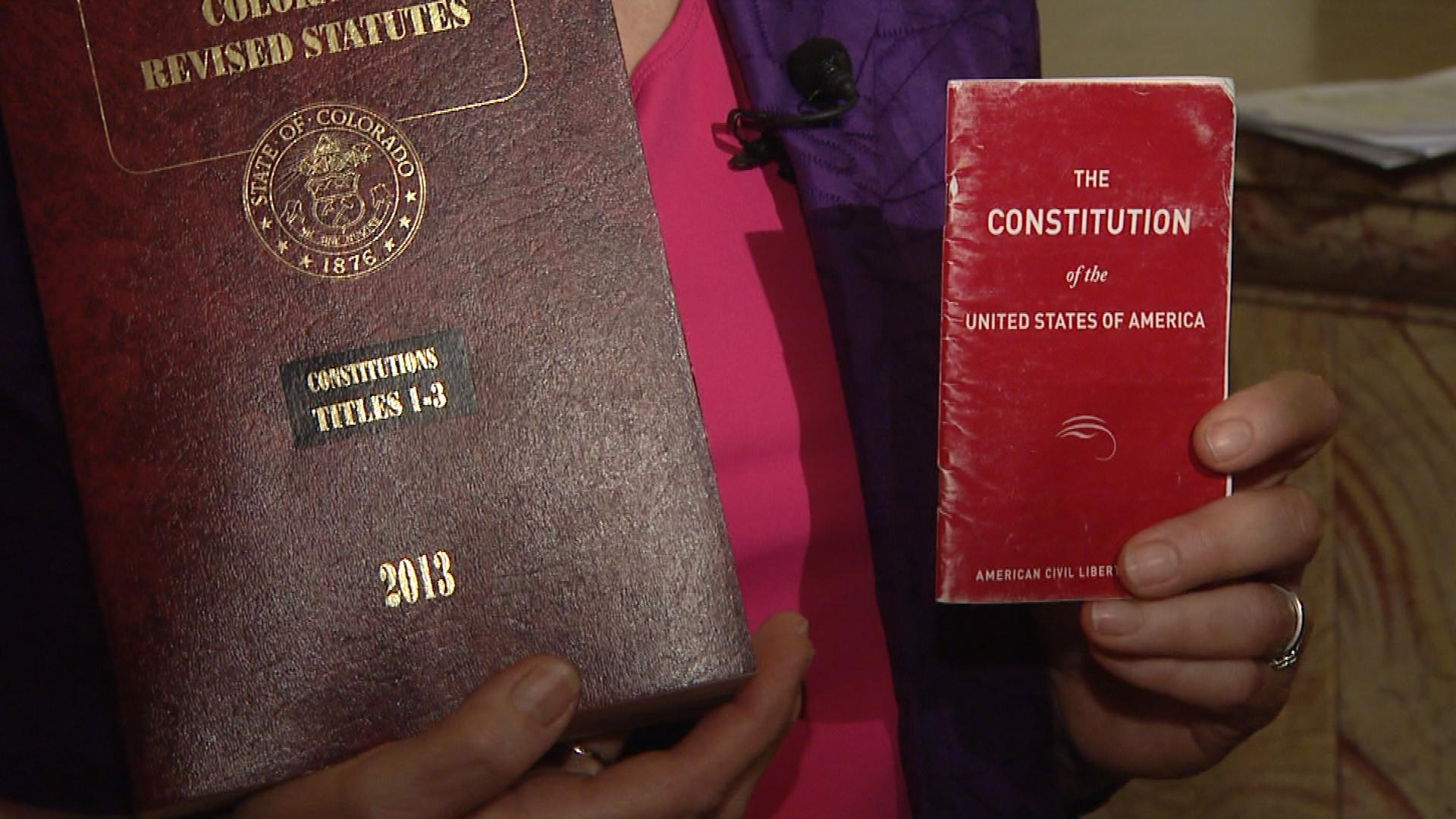 The Colorado and U.S. constitutions (credit: CBS)