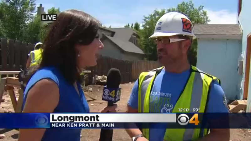 CBS4's Jamie Leary interviews Will Hauser with Habitat for Humanity (credit: CBS)