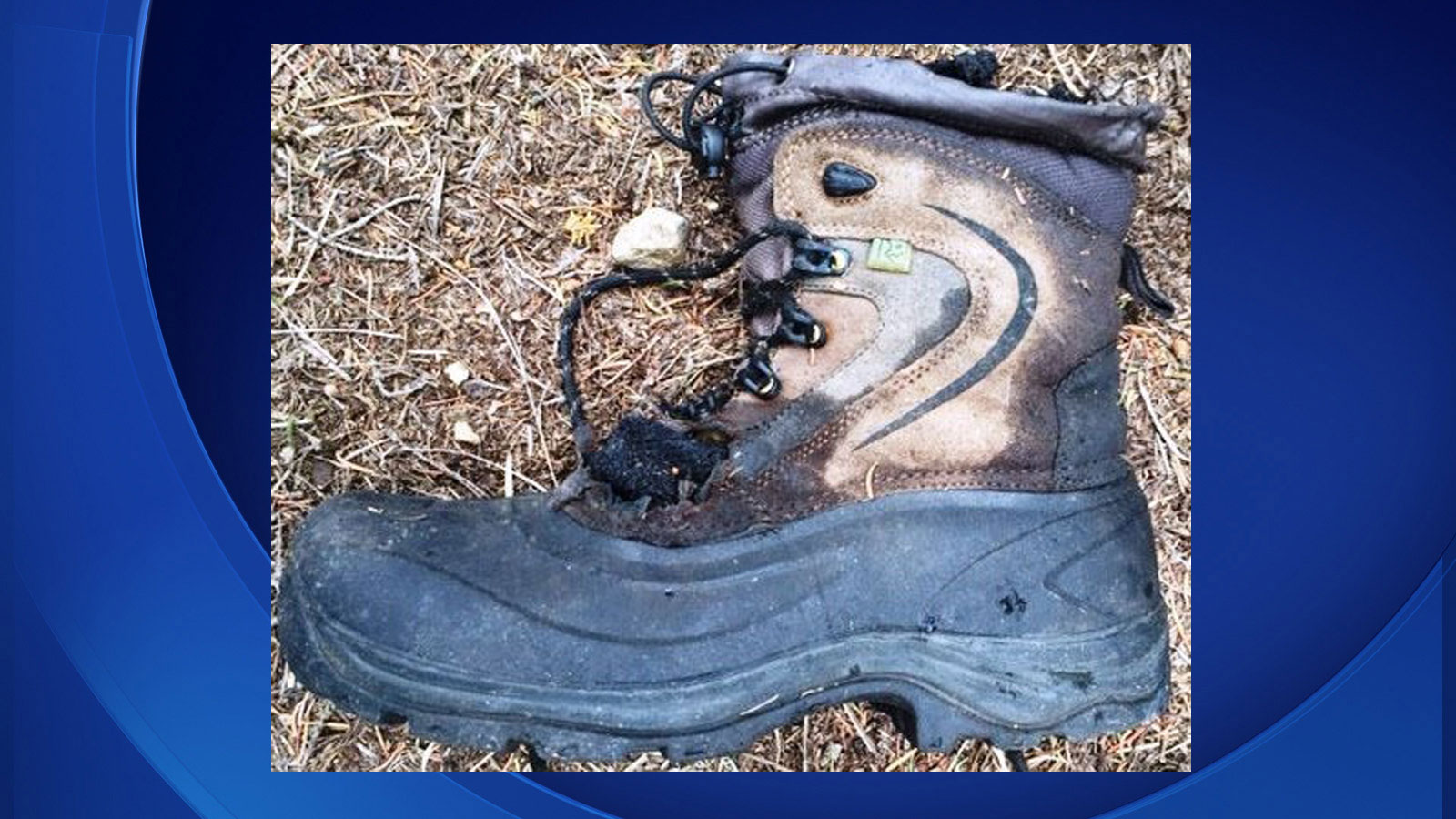 The boot where the human remains were found (credit: Boulder County Sheriff's Office)