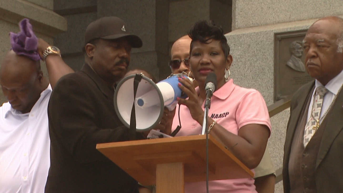 Sondra Young, head of the NAACP Denver Branch (credit: CBS)