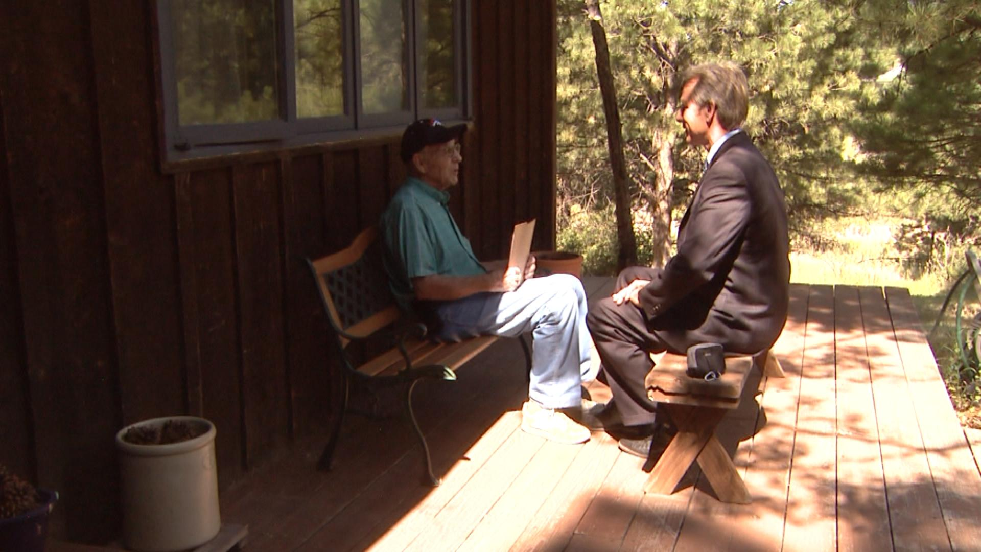 Richard Kuhn is interviewed by CBS4's Tom Mustin (credit: CBS)