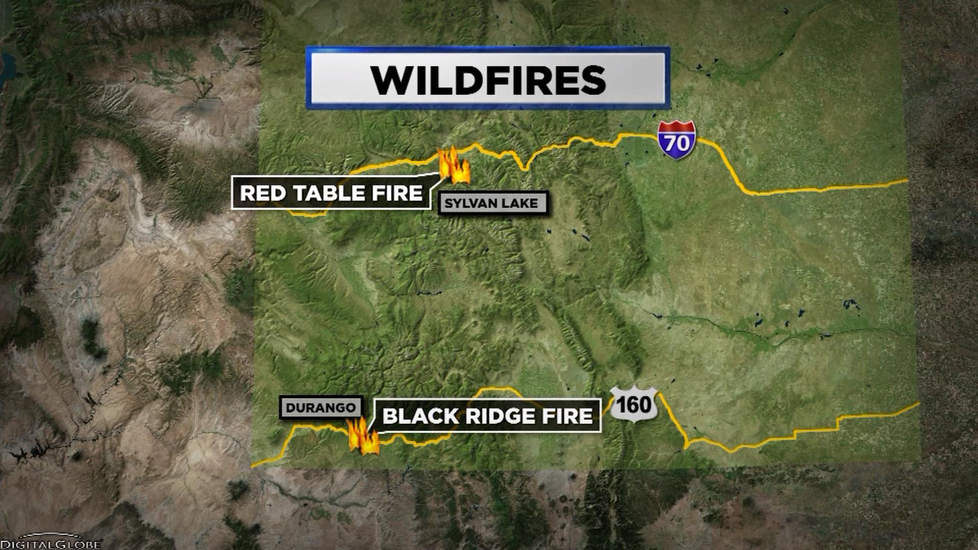 Red Table Fire, Black Ridge Fire
