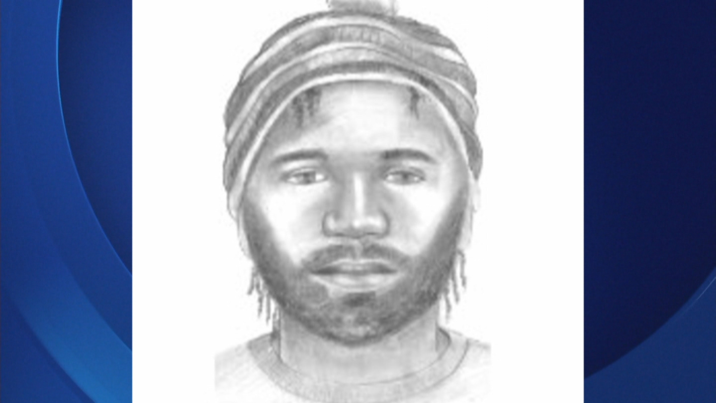 A sketch of the suspect wanted in a Highline Canal attack (credit: Denver Police)