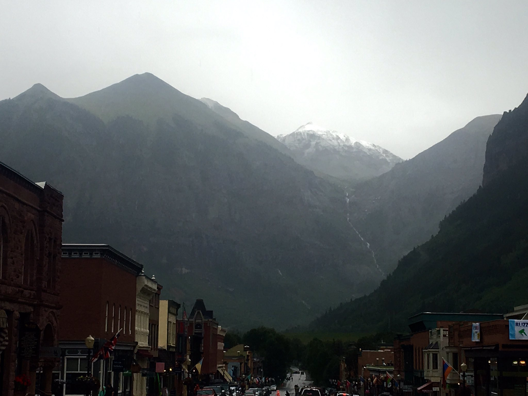 Snow on the highest peaks outside of Telluride on Monday. (courtesy: Tom Watkinson)