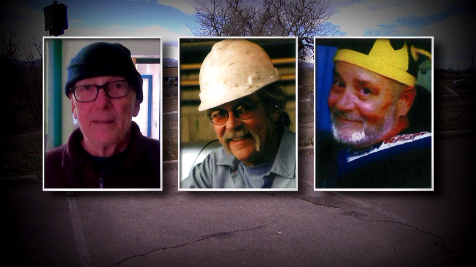 The three employees who died from cancer: Jim Black, Tom Cheser, Joe Pershin (credit: CBS)