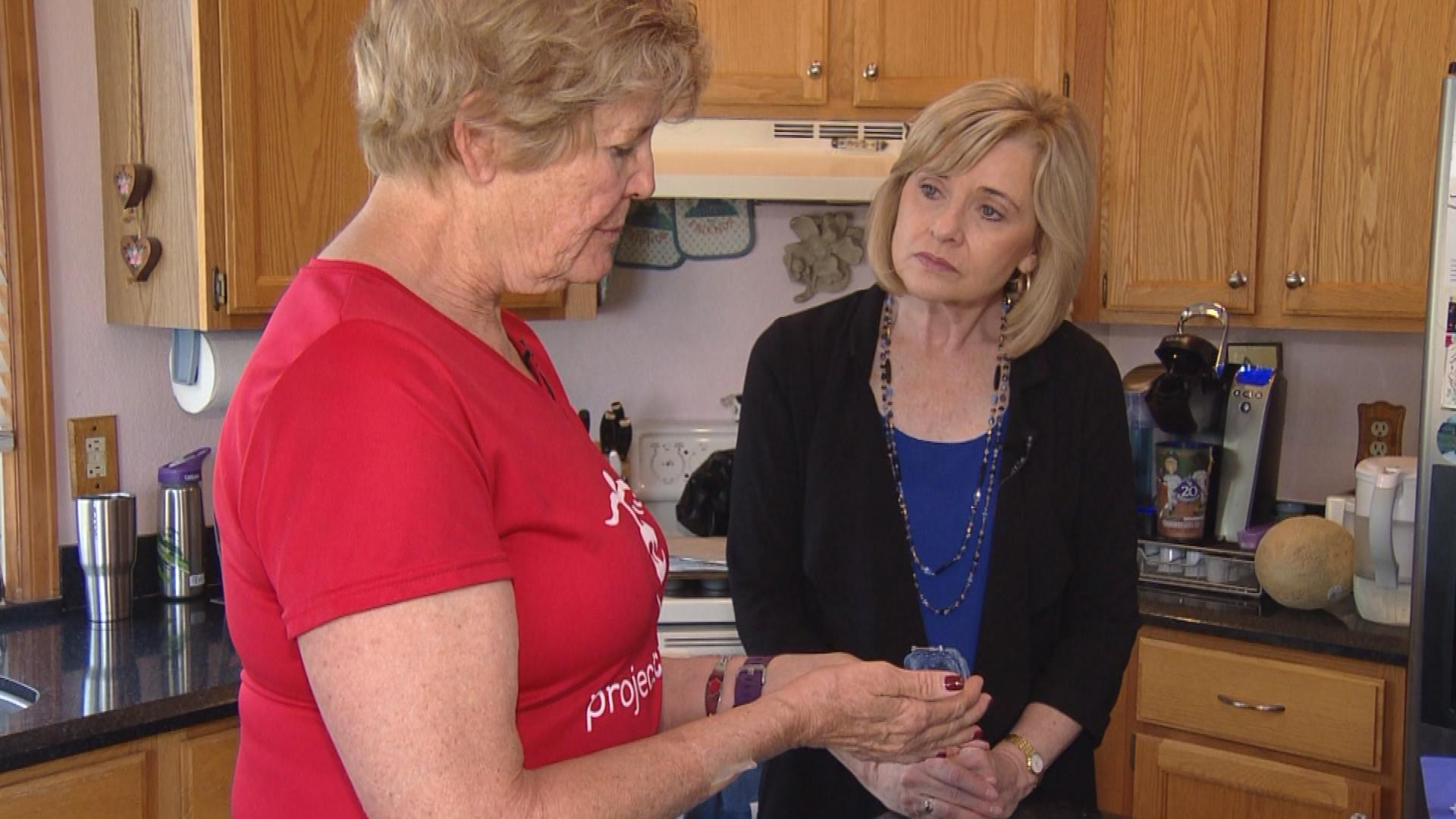 Diane Shea is interviewed by CBS4's Kathy Walsh (credit: CBS)