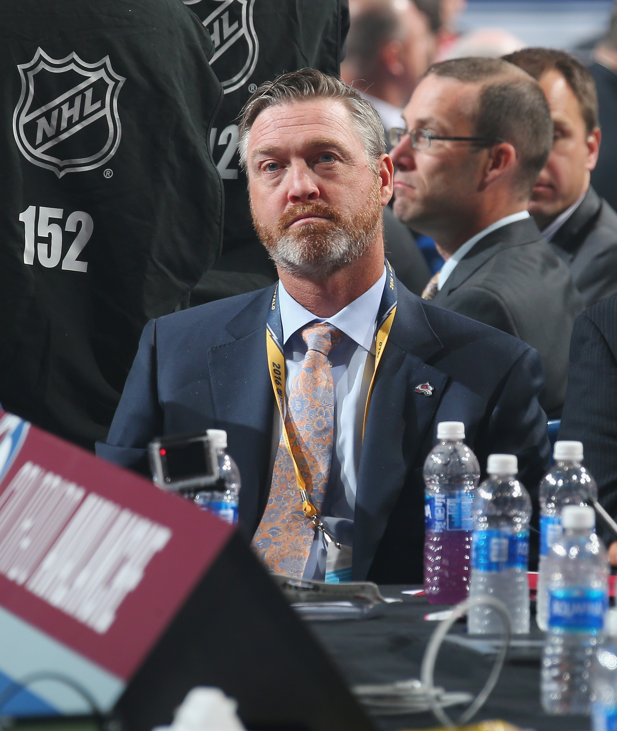 Patrick Roy of the Colorado Avalanche attends the 2016 NHL Draft on June 25, 2016 in Buffalo, New York.  (credit: Bruce Bennett/Getty Images)