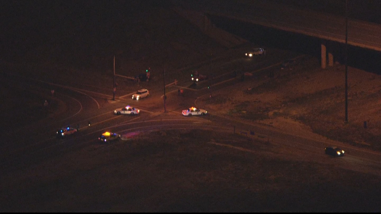 Copter4 flew over the deadly crash at 56th and Pena Boulevard (credit: CBS)