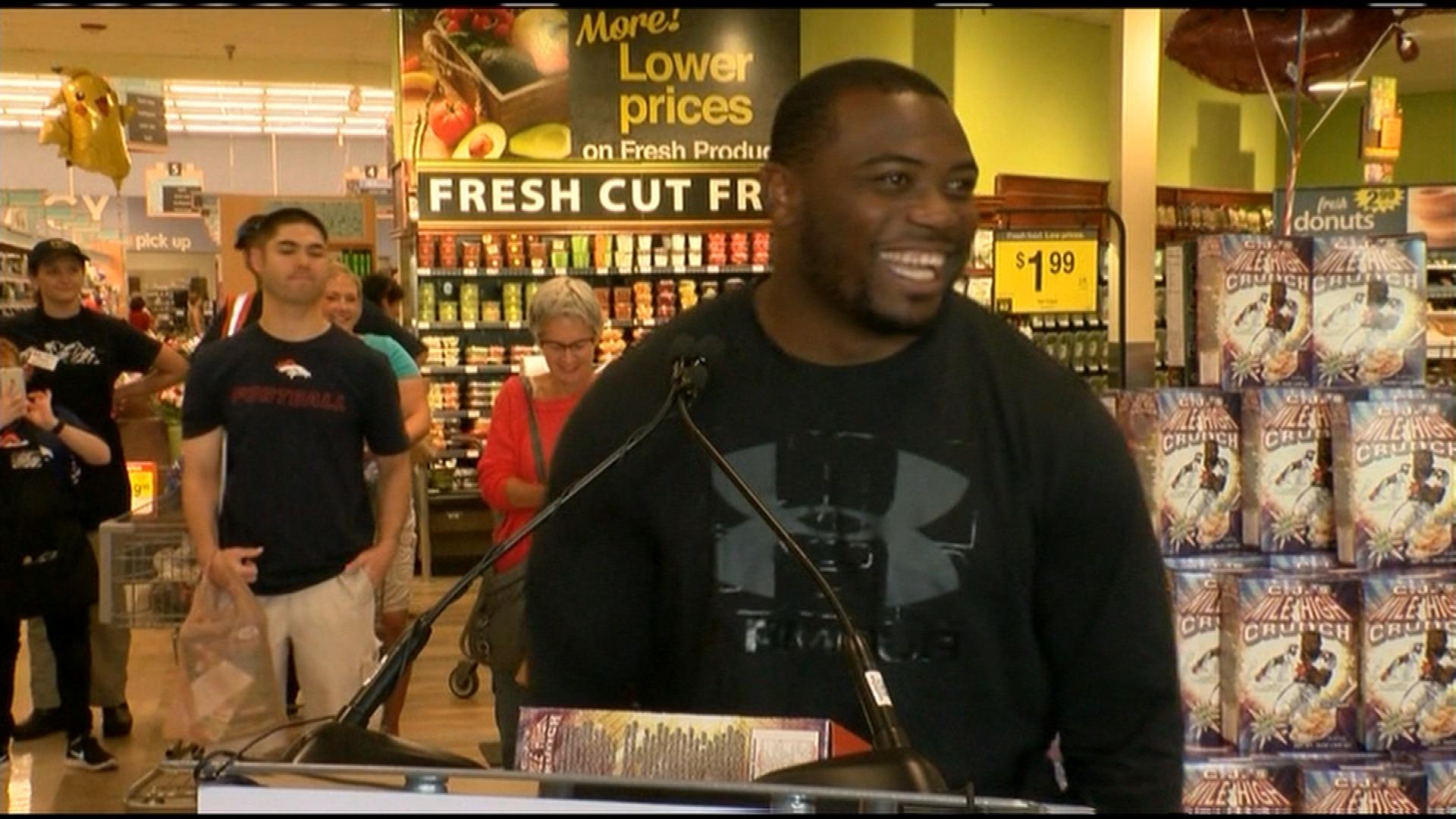 C.J. Anderson at the announcement on Tuesday (credit: CBS)