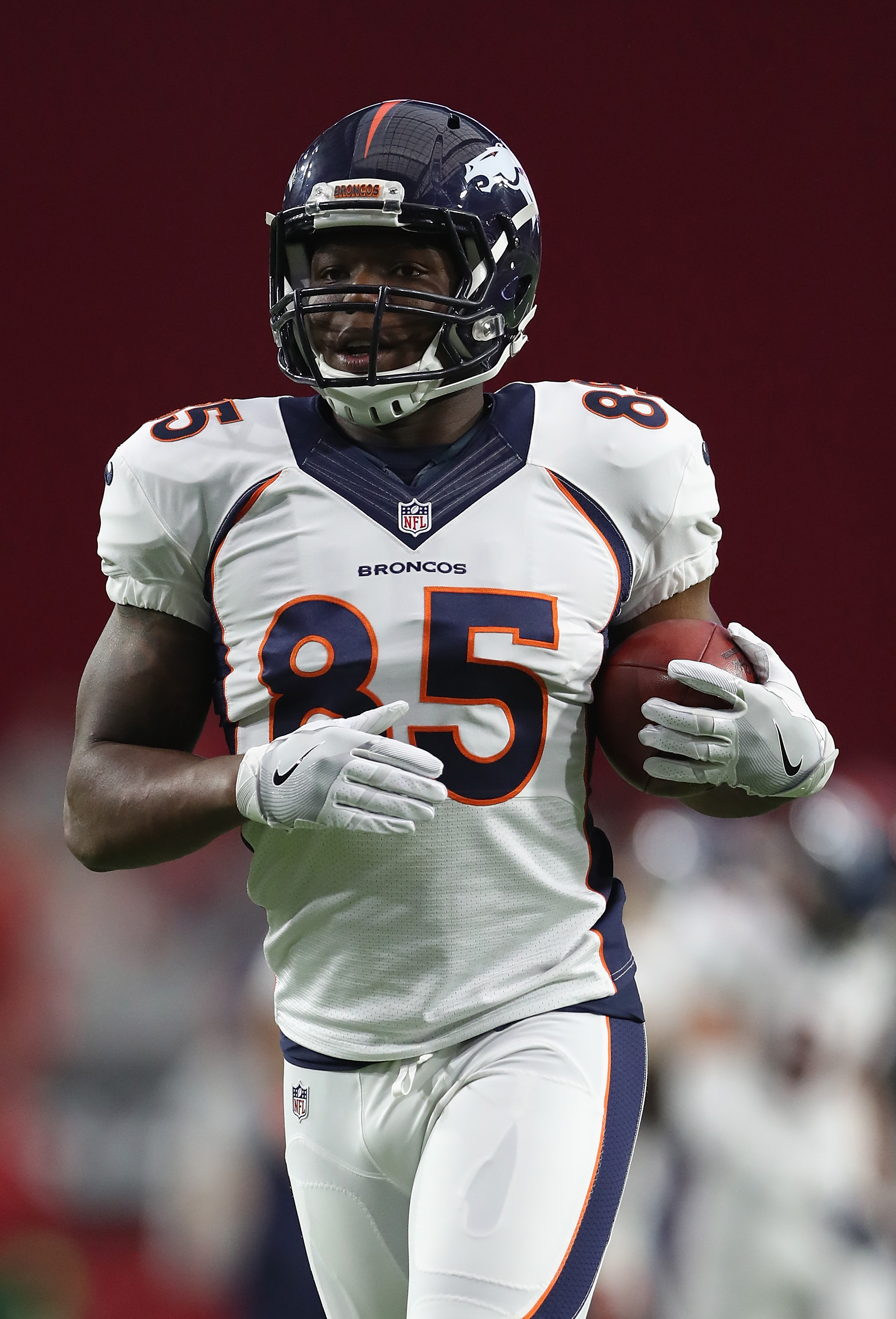 Tight end Virgil Green of the Denver Broncos (credit: Christian Petersen/Getty Images)