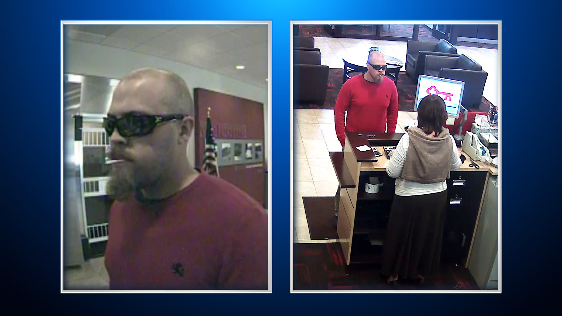 A man robbed the Key Bank in the 7300 block of Chatfield on Thursday (credit: Jefferson County)